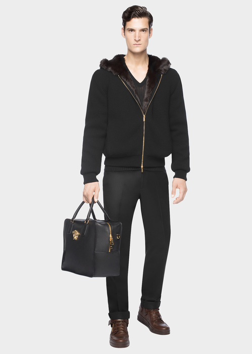 Knitted hooded jacket Jackets & Coats - Versace Abbigliamento