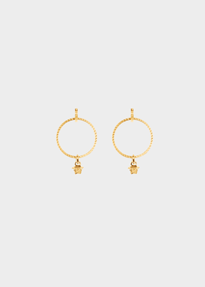 Medusa hoop drop earrings Earrings - Versace Accessori