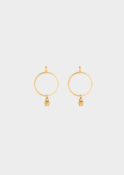 Medusa hoop drop earrings D00O - Versace