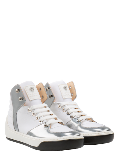 Mixed material sneakers - Young Versace Accessories