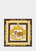 Tigris Print Silk Foulard - Versace Foulards & Scarves
