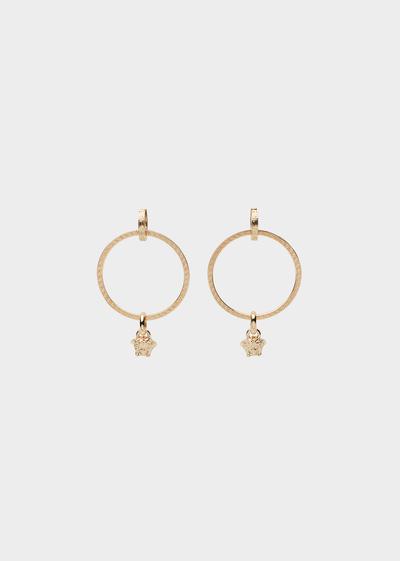 Medusa hoop drop earrings Earrings - Versace Accessori
