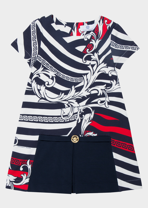 Mixed Pattern Dress Junior Clothing  4 - 14 years - Young Versace