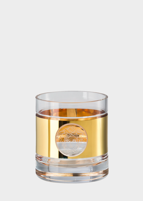 Gold Medusa Madness Whisky Glass - Versace Glass & Crystal