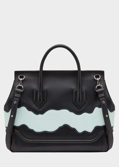 Palazzo Empire Wave Leather Bag KN8JP - Versace