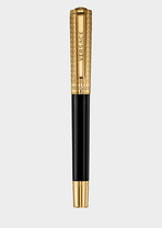 Black and Gold Olympia Roller Pen - Versace Pens