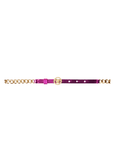 Chain belt with leather details - Young Versace Accessories