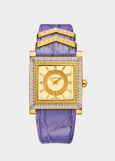 Lilac and Gold DV-25 Watches - Versace Preziosi