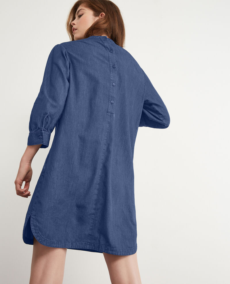 Kleid aus Denim Light denim Dampagne