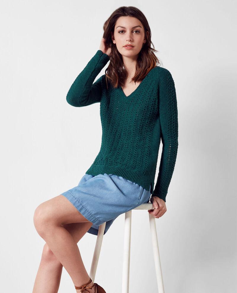 Openwork knit jumper Jungle Calamar