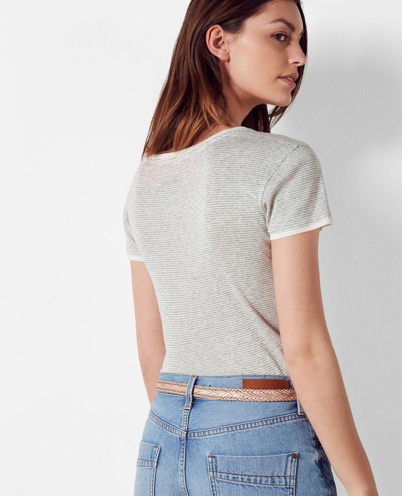 "T-Shirt im Marinelook ""Poli♥ssonne"" Gris chine Chamois"