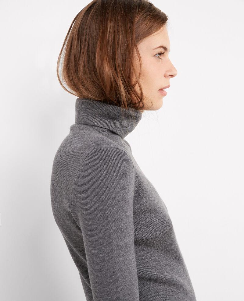 Jersey con cuello vuelto de canalé Gris fonce Bulletin