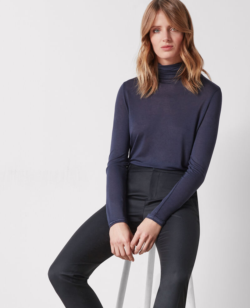 Wool office trousers Noir Cotiya