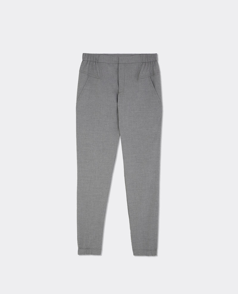 Jogpant en flanelle Light heather grey Bikrame