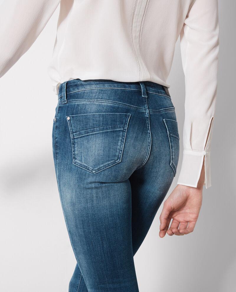 "Skinny-Jeans ""Jolie chérie"" Surf blue Cabou"