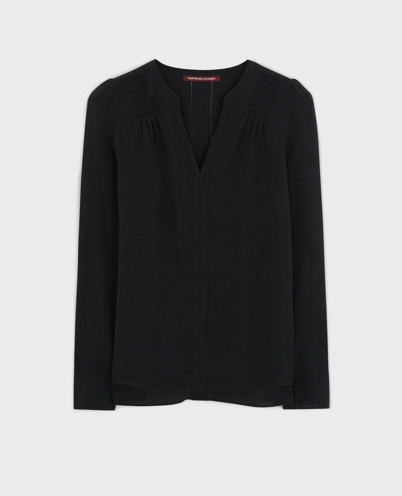 Blusa de seda  Noir Cinomi