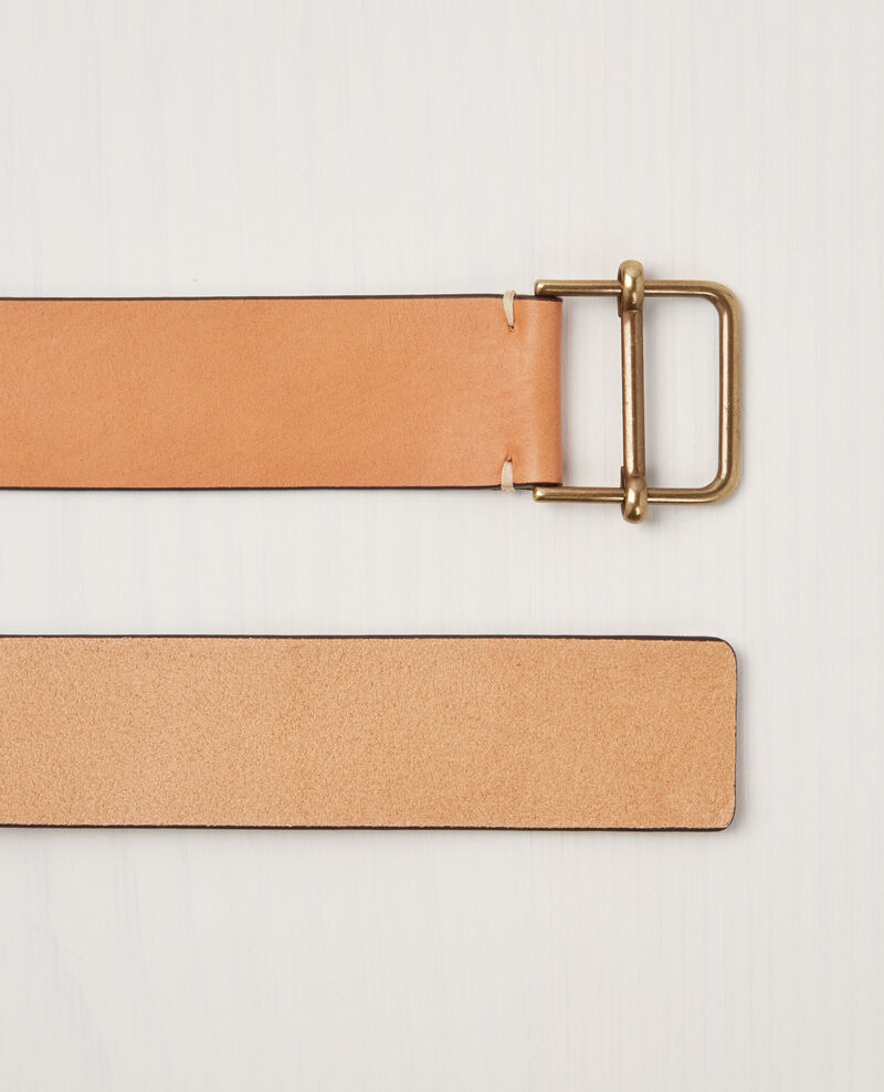 Leather belt Sepia Civil