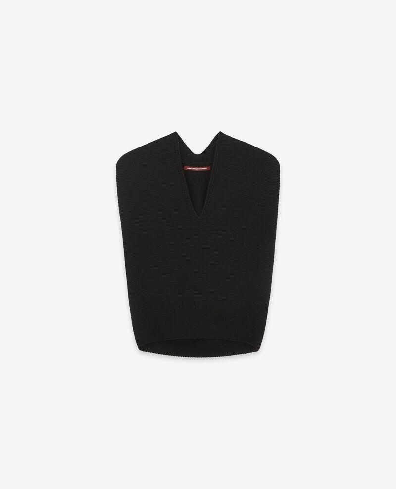 Ärmelloser Pullover ohne Nähte Noir Dexterieur