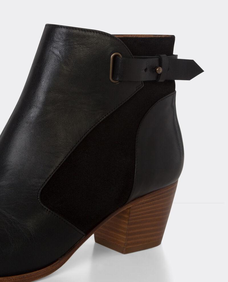 Botines de piel Noir Bastion