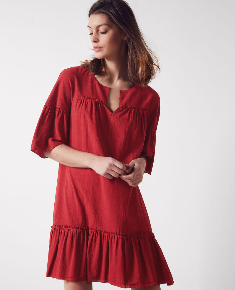 Robe ample avec volants Raspberry Cindiana