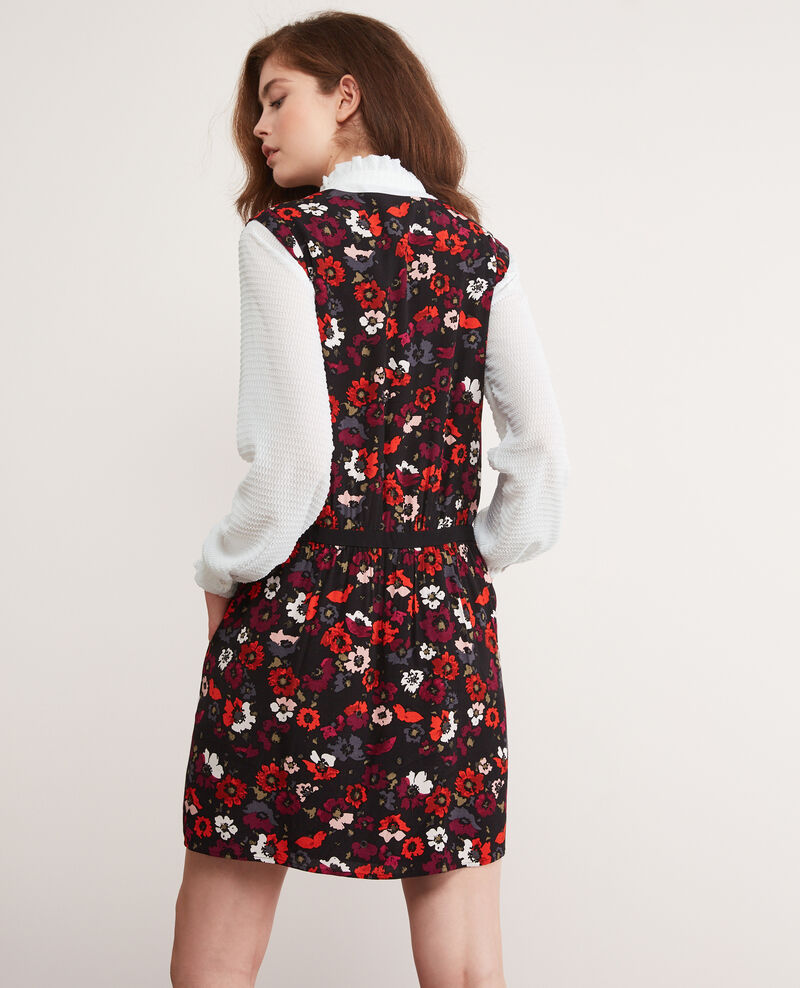 Vestido estampado Poppies black Deso