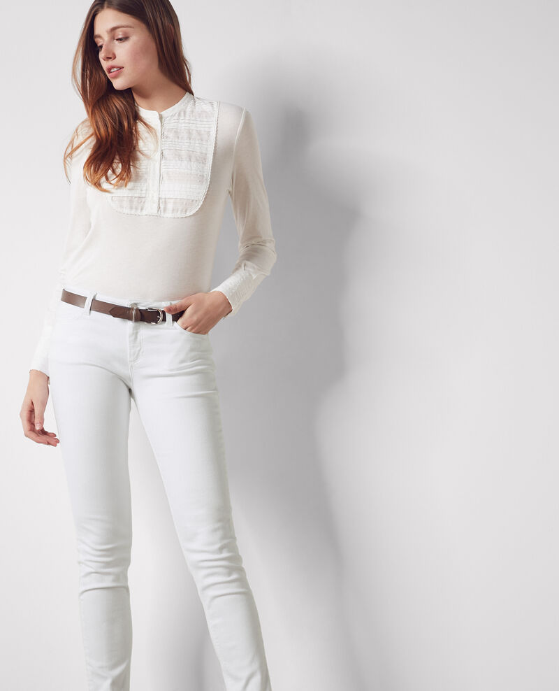 Ma demoiselle slim-fit jeans Off white Cibou
