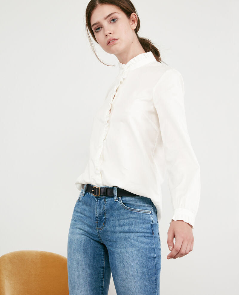 Chemise volantée Blanc Doremi