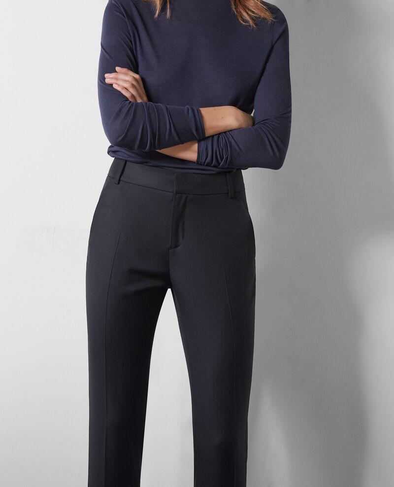 Pantalon office en laine Noir - Cotiya | Comptoir des Cotonniers