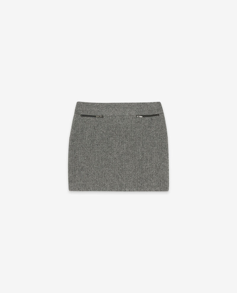 Jupe en tweed avec laine Medium heather grey Doucoup