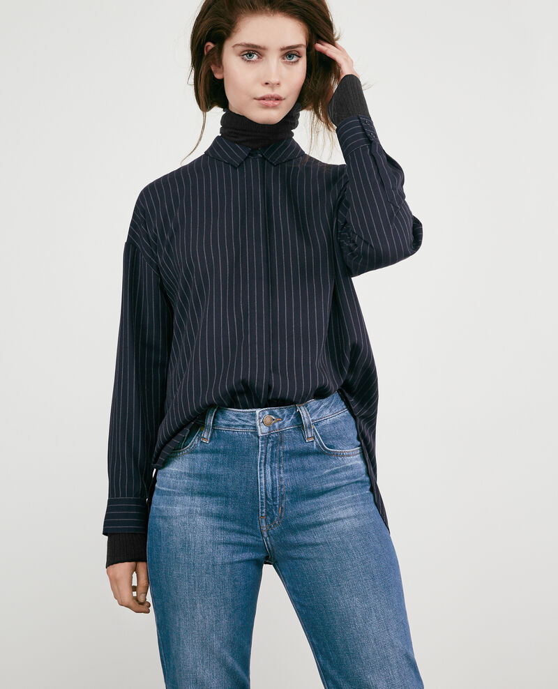 Striped oversize shirt Navy Dagicien