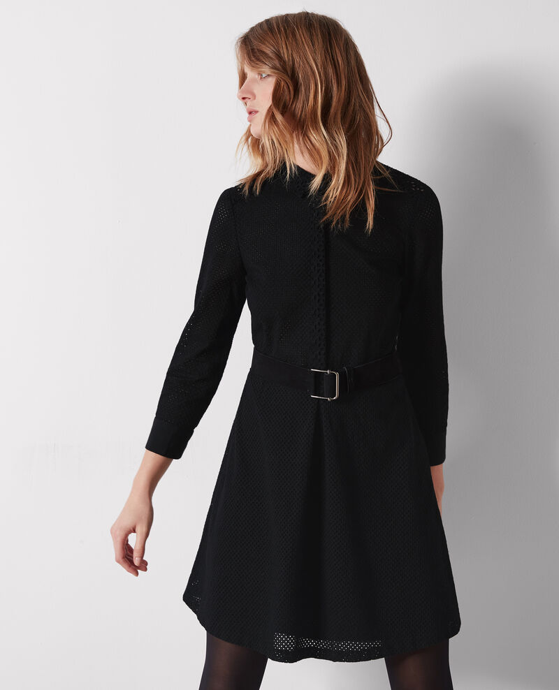 Robe en broderie anglaise Noir Camomille