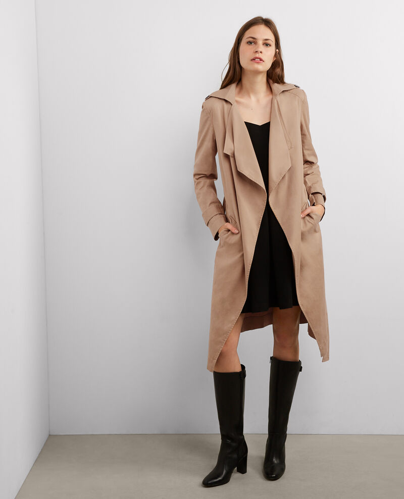 Trench long fluide Chamois Betina