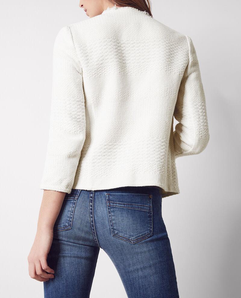 Veste en tweed ouverte off white chaton comptoir des cotonniers - Veste tweed comptoir des cotonniers ...