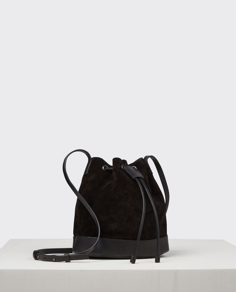 petit sac seau en cuir su d noir calin comptoir des cotonniers. Black Bedroom Furniture Sets. Home Design Ideas