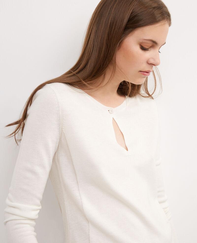 Jersey fino con lana Off white Bernard