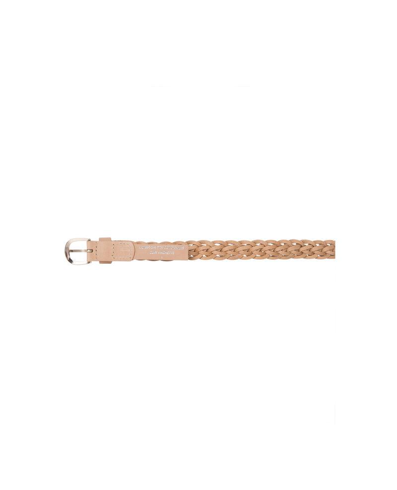 Cinturón trenzado Nude/champagne Aura