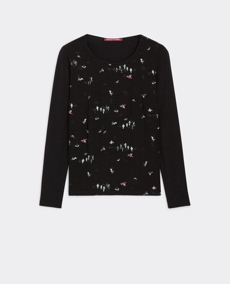 T-shirt manches longues bi-matière Birdy noir Baria