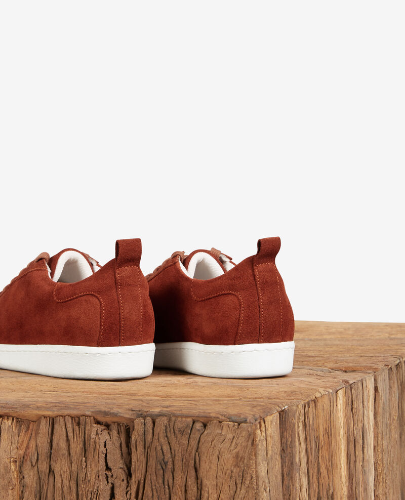 Leather trainers Rust Delaver