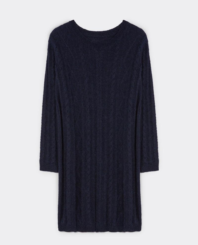 Robe avec alpaga et mohair torsadé Dark ocean Bukowski
