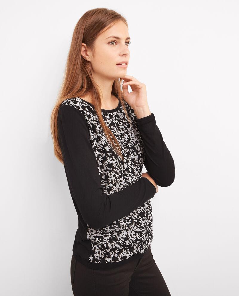 T-shirt imprimé avec cachemire Panthere Boubou