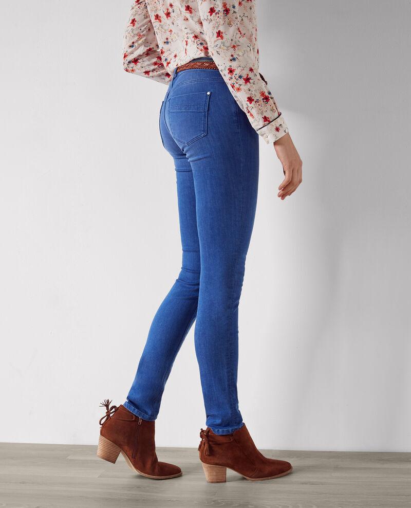"Jeans slim ""Ma demoiselle"" Cristal blue Cibou"