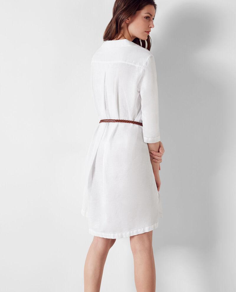 Tunique en coton et lin Blanc Catalogue