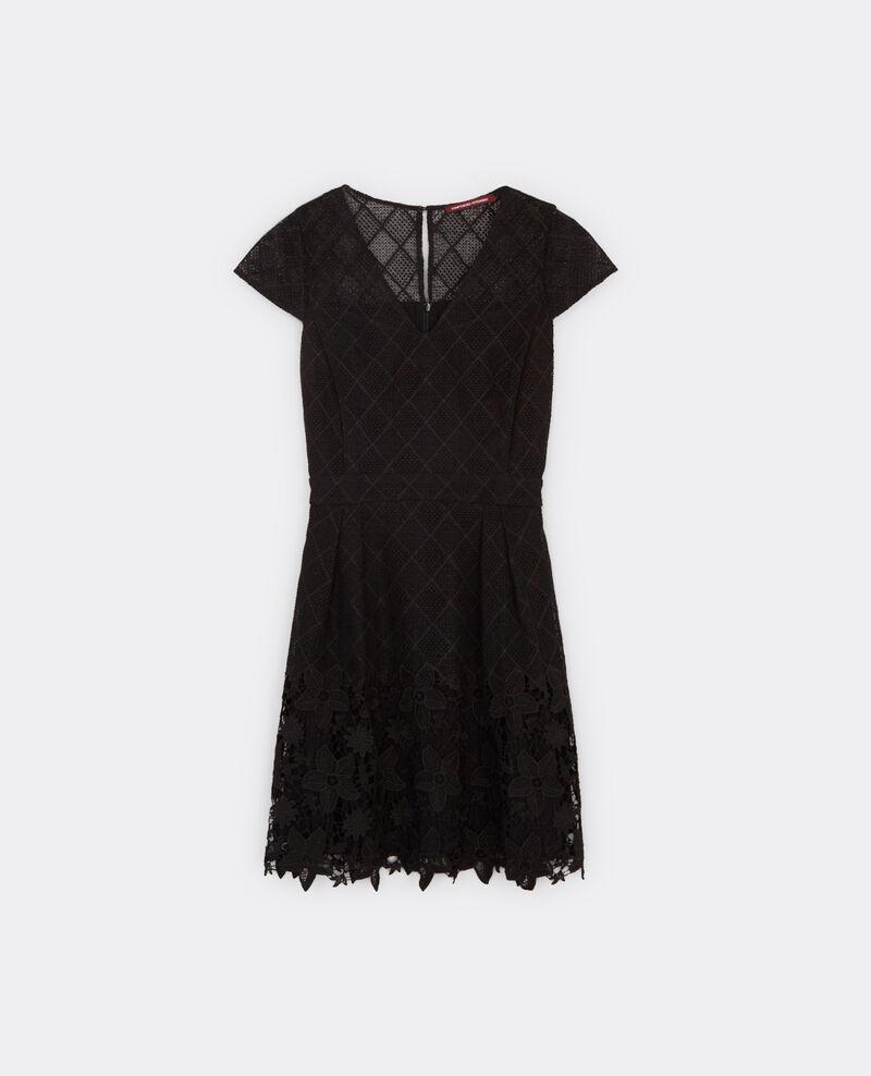 Vestido de encaje y guipur Noir Blower