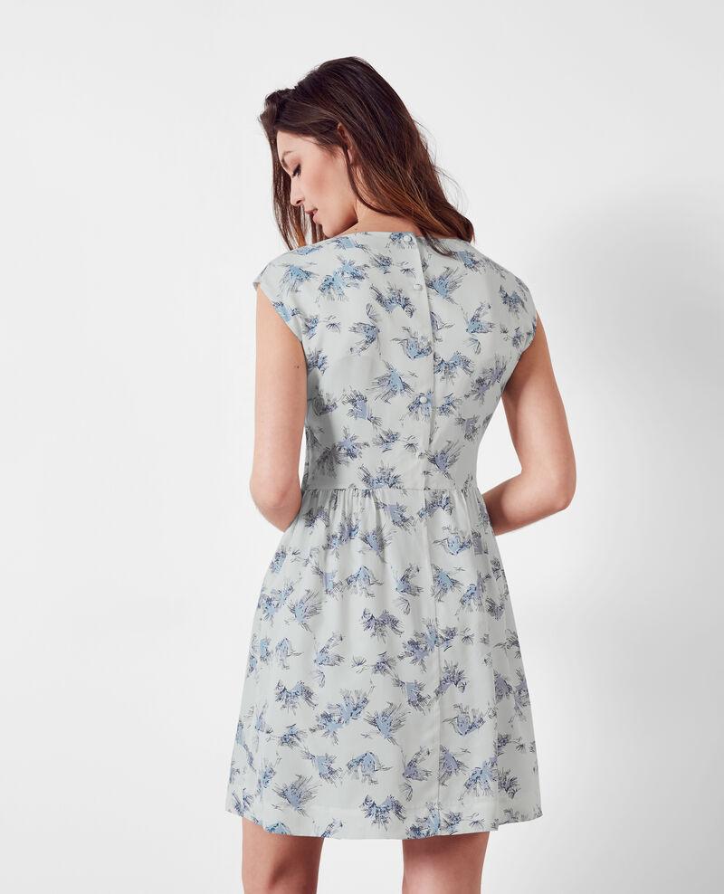 Robe imprimée en cupro Anemone indigo 9clochette