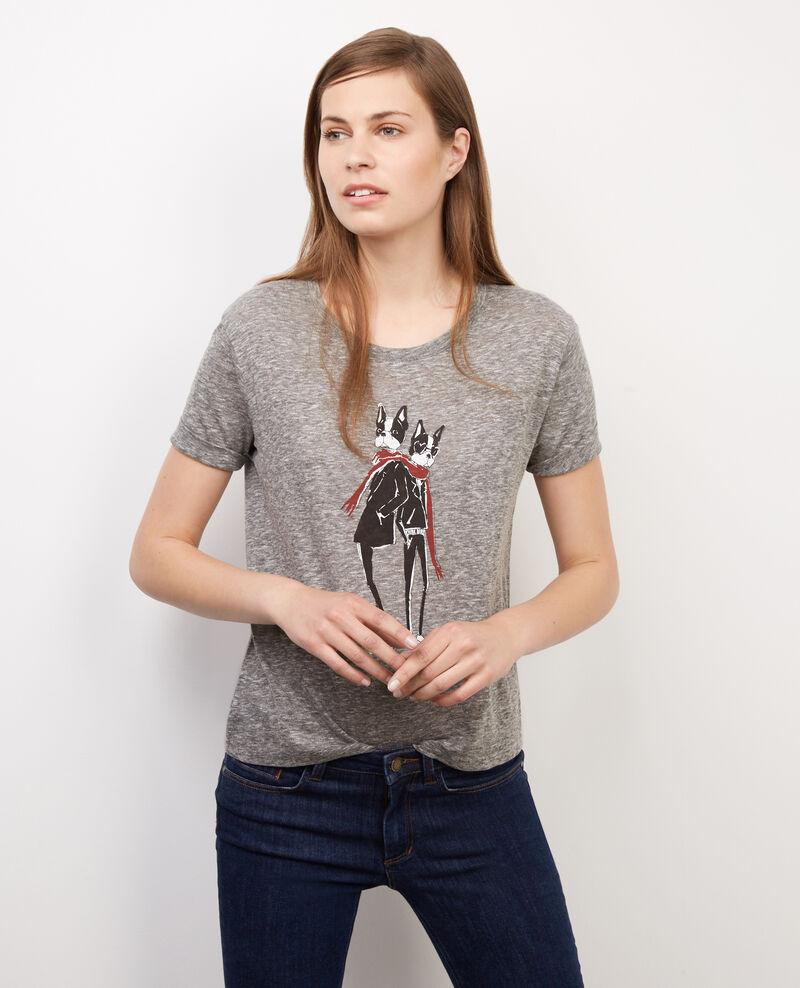 Camiseta con estampado Léon Gris chine Boheme
