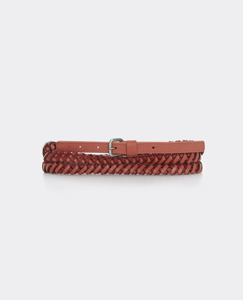 Ceinture double-tour en cuir Terracotta/brick Bordillon