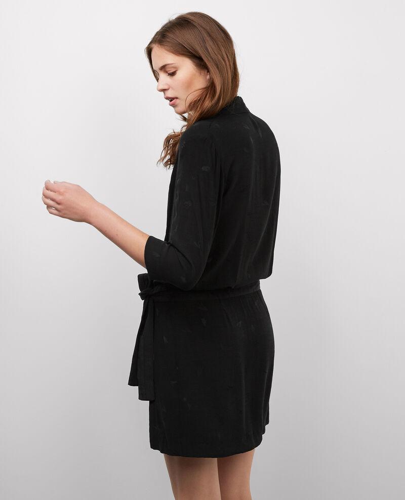 Robe cache-cœur Noir Bigfeel