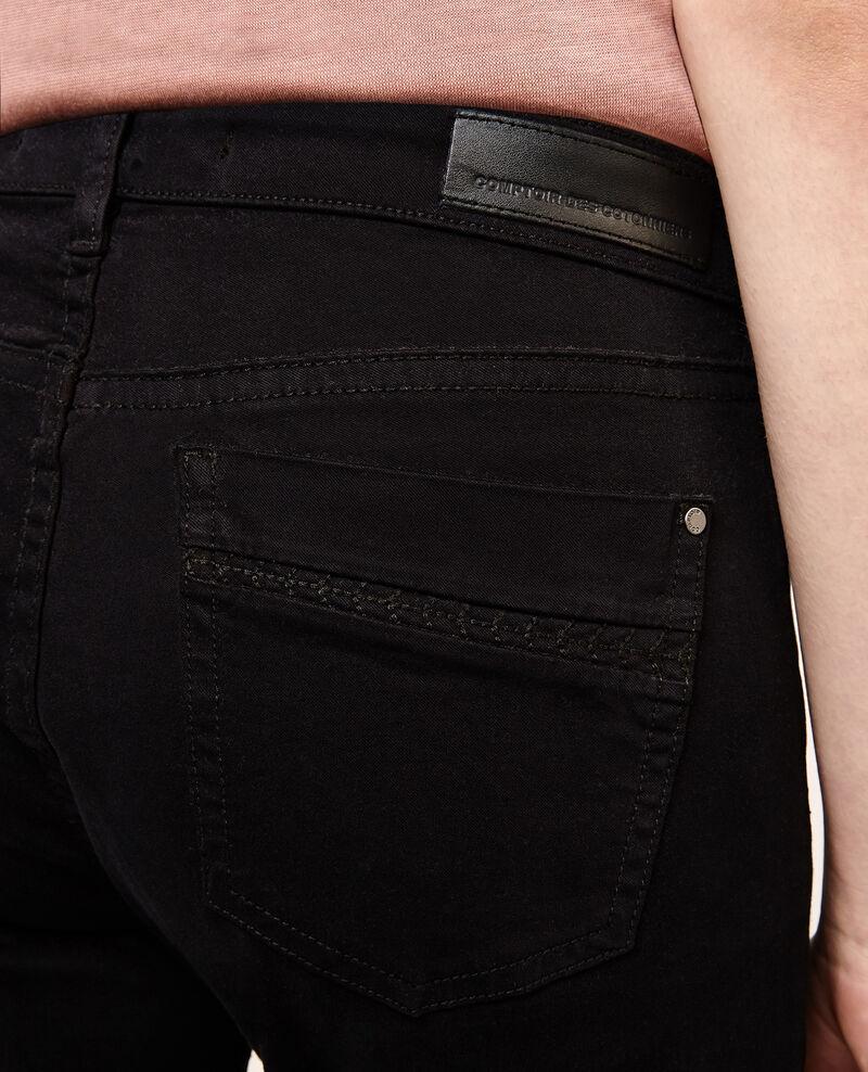 Jeans rectos con efecto piel de melocotón Noir Aimee