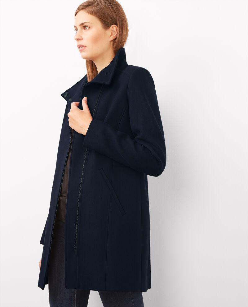 Manteau zippé en laine et coton Dark ocean Ballover