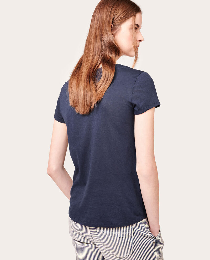 T-shirt 100% Coton Navy Anita